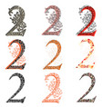 various combination numeric figures 2 vector image vector image