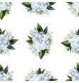 Watercolor gardenia and gypsophila pattern vector image vector image