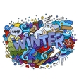 Winter hand lettering and doodles elements vector image vector image