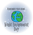 world environment day concept design for banner vector image