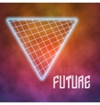 Neon Poster Retro Disco Background Into The vector image