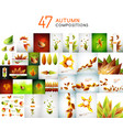 set of autumn nature backgrounds vector image