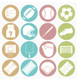 white icons team sport vector image