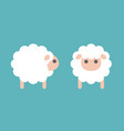 set of sheep icon in side and front vector image