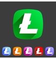Litecoin cryptocurrency icon flat web sign symbol vector image