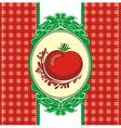 Menu design with a tomato vector image