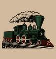 a a retro train vector image