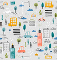 abstract seamless pattern with hand drawn city vector image