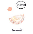argentinian dumpling empanadas watercolor vector image vector image