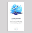 astronomy telescope and map stars discipline vector image vector image