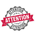 attention stamp sign seal vector image vector image