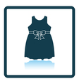 Baby girl dress icon vector image