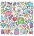 back to school school supplies and tools vector image