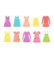 badresses girl clothes in flat vector image vector image