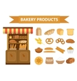 bakery products icon set flat style