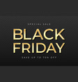 black friday sale banner shiny golden text vector image vector image