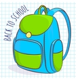 blue and green school bag vector image
