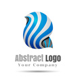 Blue Vortex Volume Logo Colorful 3d Design vector image vector image