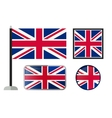 British flag icons vector image vector image