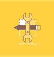build design develop sketch tools flat line vector image vector image