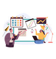 business man woman office workers characters vector image