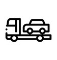 car evacuation icon outline vector image vector image