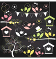 Chalkboard Birds vector image