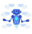 chat bot support bot assistant online vector image vector image
