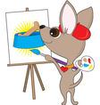 chihuahua artist vector image vector image