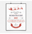 christmas card with reindeers and frame vector image