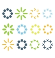 circular signs vector image vector image
