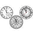 clock face collection vector image