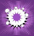 comic page bright explosive purple template vector image vector image