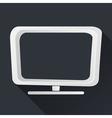 Concept TV Icon Long Shadows vector image