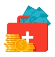 Emergency Fund Icon vector image vector image