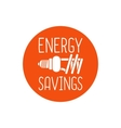 Energy savings logo design vector image