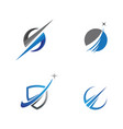 faster logo template icon vector image