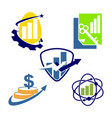 financial accounting consulting logo template icon vector image