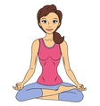 Fitness woman in lotus pose vector image vector image
