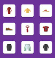 flat icon dress set of cravat banyan uniform and vector image vector image