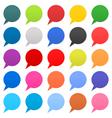 Flat speech bubble sign web icon circle shape vector image vector image