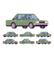 green sedan set vector image vector image