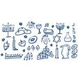 Hanukkah Symbols Doodles vector image vector image