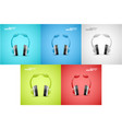 headphones graphic vector image