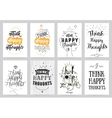 Inspirational cards 8 set Typographical design vector image vector image