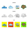 isolated object natural and disaster icon vector image vector image