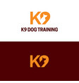 k9 dog training and security logo and icon vector image