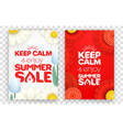 keep calm and enjoy summer sale red and white vector image vector image