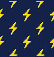 lightning or thunderbolt pattern on the dark blue vector image vector image