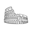 linear art colosseum in rome vector image vector image
